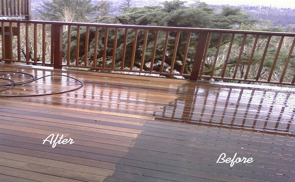 pressrue cleaning deck
